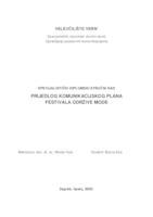 prikaz prve stranice dokumenta Prijedlog komunikacijskog plana festivala održive mode